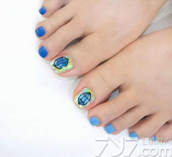 卡通脚趾甲美甲图片 2016新款夏季卡通脚美甲 -卡通脚趾甲美甲图片,