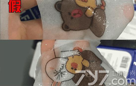 可莱丝卡通面膜真假,可以从面膜纸材质辨别