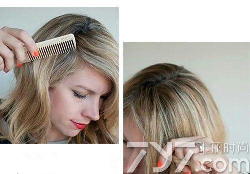 把新的头发加入发辫中一起编织