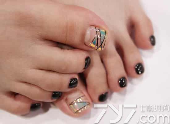 韩国脚美甲图片,韩国脚指甲图片,韩版脚美甲图片大全