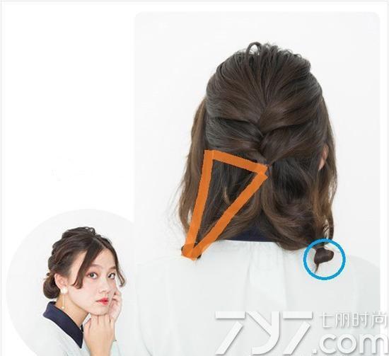 编好看,短头发编发步骤图解法,短头发编发教程