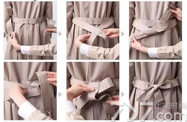 怎么打蝴蝶结腰带图解_风衣腰带怎么打