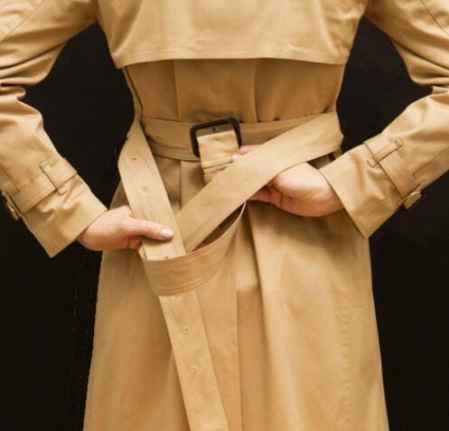 风衣腰带系法图解,风衣腰带蝴蝶结系法图解,风衣腰带