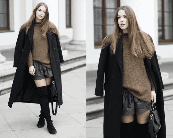 腿粗的女生穿衣搭配图片秋天