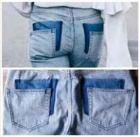 旧牛仔裤改造成最in款式 变身Vetements牛仔裤So easy