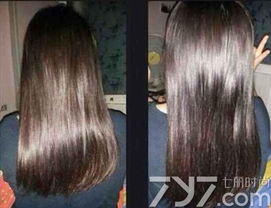 头发软化前后效果图,头发软化要多少钱