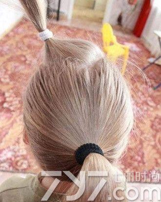 编发丸子头扎法步骤图解 高大上版本丸子头