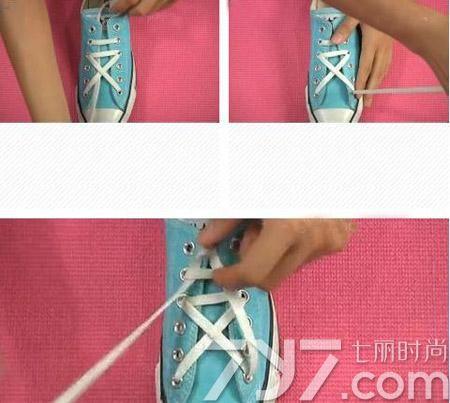 鞋带的系法图解五角星,五角星鞋带系法步骤图,鞋带五角星的系法图图片