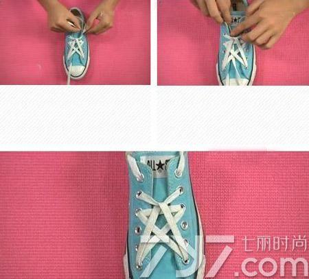 鞋带的系法图解五角星