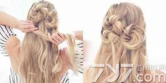 头  半花瓣扎发方法二:    准备工具:多个黑色小发夹 半花瓣扎发步骤