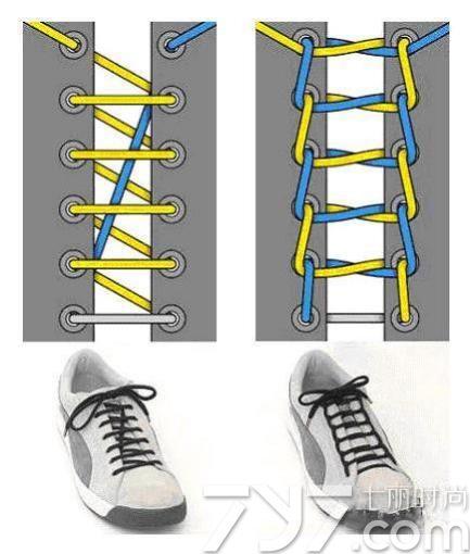 板鞋鞋带的系法图解,高板鞋鞋带系法