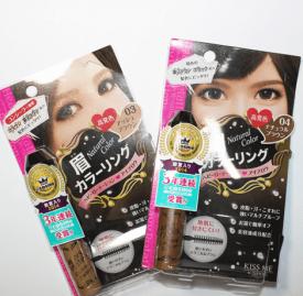 KISSME染眉膏真人试色 眉色发色搭配更和谐