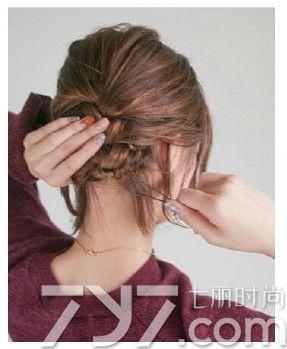 发编发图片,短头发编头发花样,短头发编发
