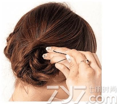 可爱盘发发型图片,可爱盘头发型图片,可爱盘发图解100