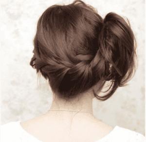 侧编发发型教程图解 甜美超减龄!
