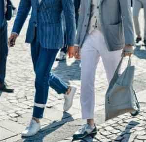 西装配运动鞋好看吗? 穿出十足雅痞腔调