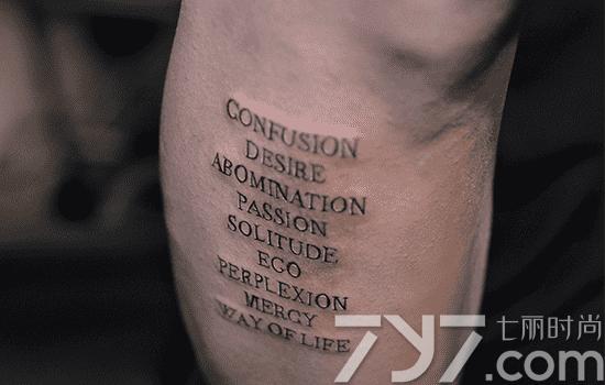 英语短句纹身,英语短语纹身,英文短语纹身图片