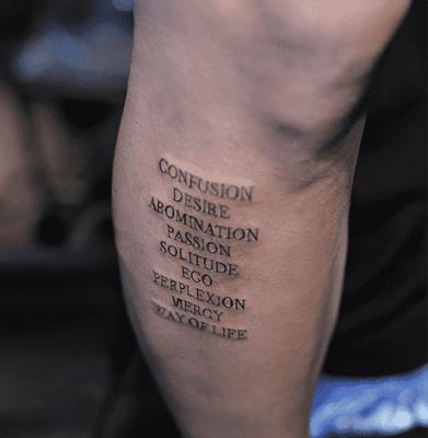 英语短句纹身 7款英语短句纹身款式推荐