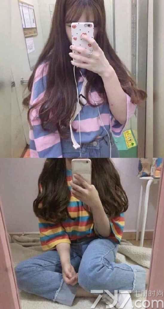 女生微卷长发图片,女生微卷发型图片,微卷长发背影