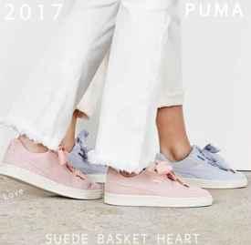Puma Suede Basket Heart 推出两款柔美配色