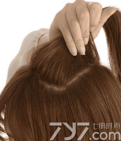 中长发半扎发型,中长发半扎发教程图解,半扎半披的发型图片