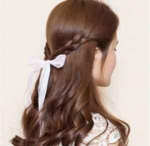 披肩发型怎么扎惠泽社群高手论坛 半扎公主头超甜美