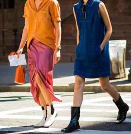 裙子配靴子图片大全  高挑显瘦必备穿搭
