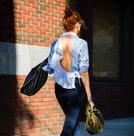 荷叶边上衣搭配图片 塑造浪漫小女人气质