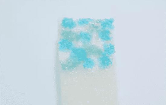 蓝色线条美甲教程 清新线条感