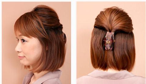 短直发怎么扎简单好看 半扎才是吸睛关键图片