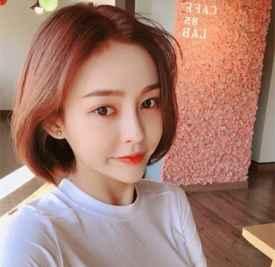 2017韩国短发流行发色 时髦发色不失清新范