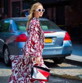 印花长袖连衣裙 给你一整个季节的浪漫