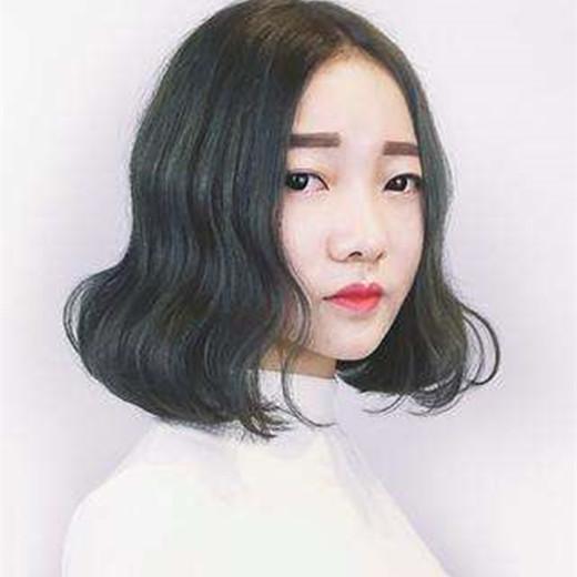 中分短发烫发韩范图片,全是韩国小姐姐大爱款 - 发型图片