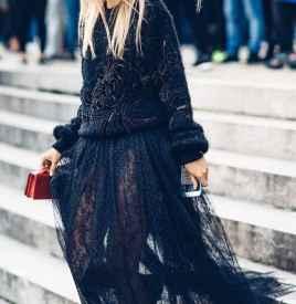 冬天蕾丝裙怎么搭配 展现时髦的优雅姿态
