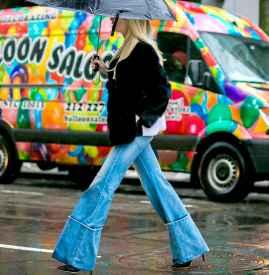 喇叭裤配什么鞋子好看冬天 玩转chic复古调调