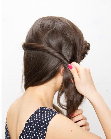 长发发型扎法及步骤 半扎发mix扭转刘海