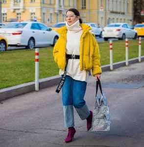 冬季阔腿裤搭配羽绒服 羽绒服也能穿出时髦感
