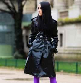 外套配腰带图片 配上宽腰带穿出时髦感