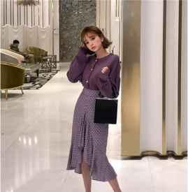 紫色针织衫怎么搭配  开春穿出浪漫甜美气息