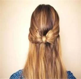 蝴蝶结发型扎发教程 一款简单蝴蝶结发型扎法