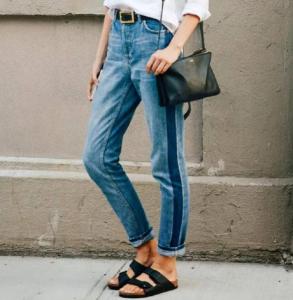 复古牛仔裤搭配女 mom牛仔裤和微喇牛仔裤