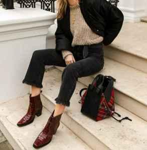 女生秋冬穿什么靴子好看 牛仔靴成了时髦精的早秋最爱