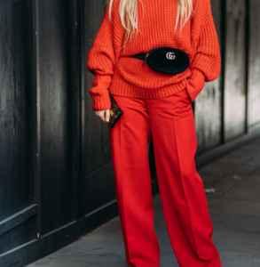 針織衫怎么搭配褲子 優雅氣質還要大長腿