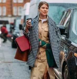 格纹大衣如何搭配图片 这样搭配冬日还能更chic