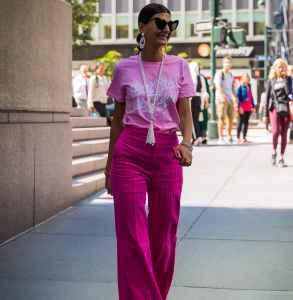 灯芯绒粉色裤子搭配 少女心爆表的单品