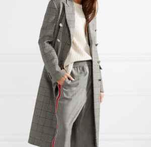 威爾士格紋大衣搭配  沉穩與時尚的完美結合