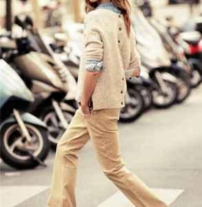 灯芯绒裤子配什么上衣 洋气复古风来袭