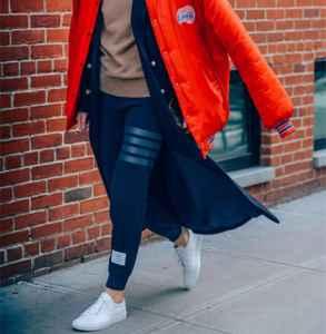 运动裤+大衣,你这样穿有点帅啊!