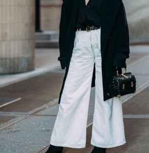 秋冬白色阔腿裤怎么搭配 温柔十足的暖意