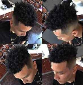 黑人烫发型 渣男除了锡纸烫还可以试试这款发型